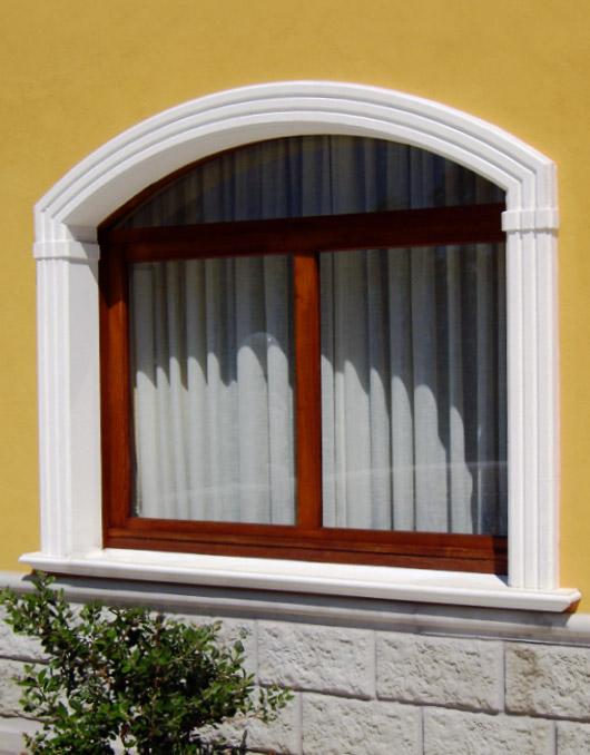 Cornici in cemento per finestre ad arco ribassato - Finestre ad arco ...