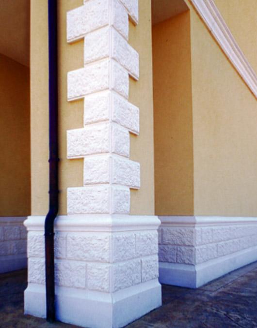 Zoccolature in cemento per muri art 93 94 95 b - Decorazioni facciate esterne ...